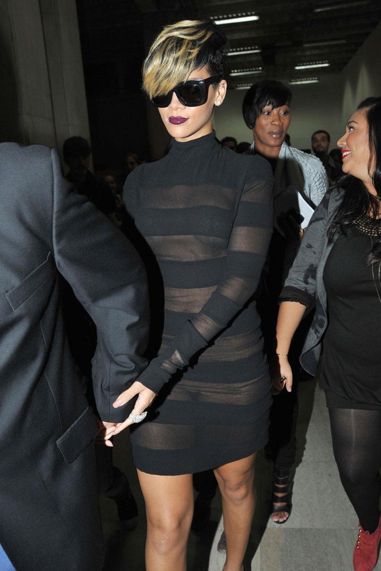 The Rihanna see through paris