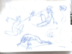 30 second Gesture sketches
