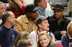 Denzel Washington at son Malcolm's Penn State Basketball game