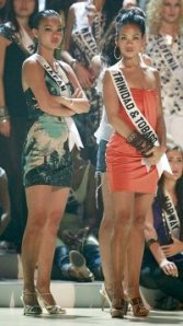 Miss Japan and Miss Trinidad and Tobago...best friends...