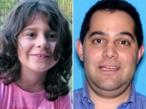 Makayla Sitton, 6 and the killer Paul Michael Merhige, 35