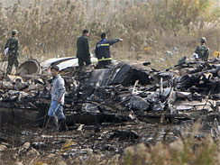 Plane crash in Shanghai 'kills three'(AP Photo)