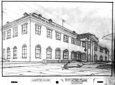 3/4 White House Exterior by Jerry Brice