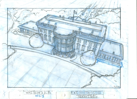 White House rough by Jerry Brice