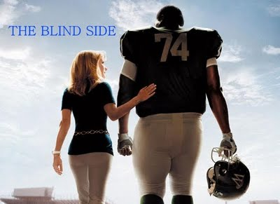 Sandra Bullock and the 'Blind Side' poster...