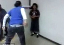 Teacher corners student,then slaps him up!!!