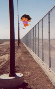 'Dora the Explorer' border fence comic...