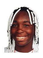 Young Venus Williams in 'old school' french braids...