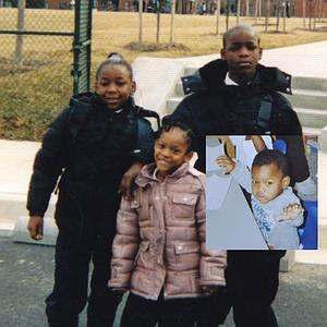 C.J. Jones with his siblings that he murdered...