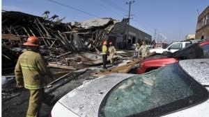 LA Firemen at the scene of the explosion