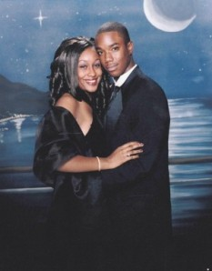 Mitrice Richardson and Prom date Greg Amerson...he spotted her in Vegas recently.