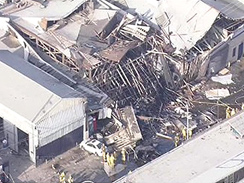 L.A. building destroyed by explosion...gas line tampered with.