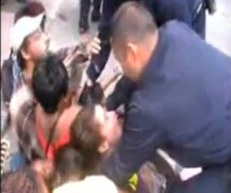 French Riot Police Brutalizing The African Babies And mothers Who Are Peacefully Protesting Their Eviction