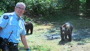 Royal Canadian Police posing With Wild Pot-Bears Guarding 1 Million Dollar Illegal Pot Farm