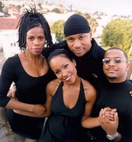 Maia Campbell with the cast of 'In The House', in the 90's...
