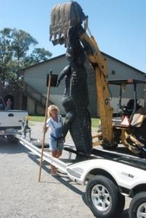 Americans kill their giant alligators...
