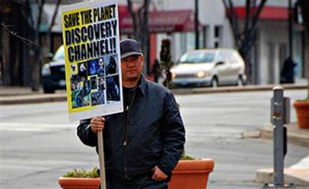 James Lee Picketing The Discovery Network In Silver Springs,Maryland In 2008
