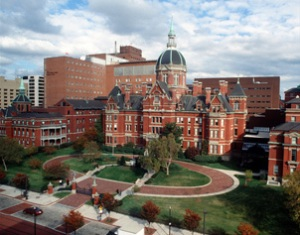 Johns Hopkins Medical Campus was the scene of a shooting,murder and suicide today...