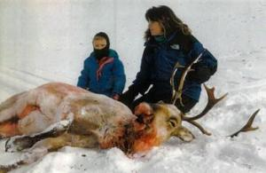Hunters enjoying a sick, sexual pleasure in the slaughter of defenseless animals...