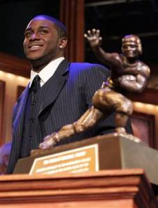 Reggie Bush and his 2005 Heisman Trophy