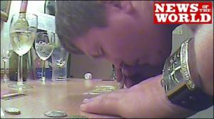 Ricky Hatton snorting an 'industrial size' line of coke!...shocking!!!