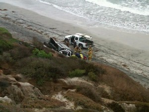 Junior Seau drove his car off of a 30 foot embankment!!!..and lived!