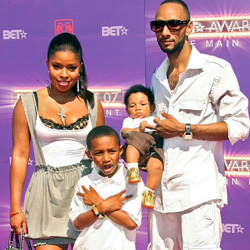 Swizz Beatz, former wife Mashonda, and their children.