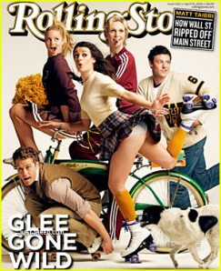 The cast of 'Glee' on the cover of 'Rolling Stone',with an upstart tease!!!