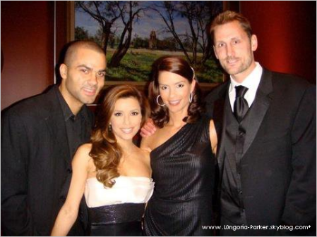 Tony Parker,Eva Longoria,Erin Berry, and the jilted Brent Berry...Family friends and former team mates.