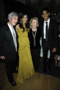 Ronni Chasen and the cast of Slumdog Millionaire...