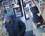 The Park Slope Trash Bandit stalking the Smoke Shop moments before the robbery and trash can beat down!