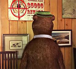 Yogi Bear facing the value of his betrayal by the coward Boo Boo...