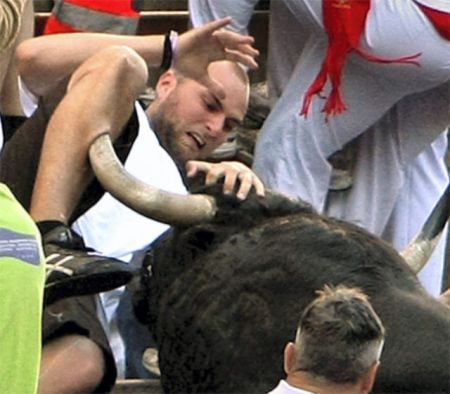 Idiot Gored By A Bull He Was Torturing...