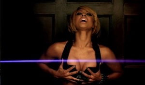 Keri Hilson checking her breast...