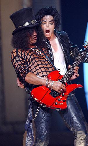 Slash and fellow black musical talent Michael Jackson...