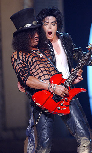 Slash and fellow black musical talent Michael Jackson...