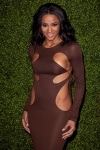 Ciara looking fine wrapped in a brown gown