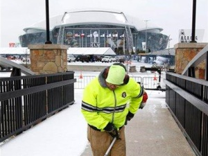 Super Bowl snow problems fall on Dallas Cowboys Stadium