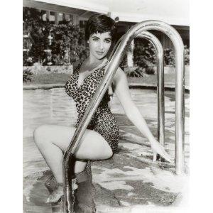 Pin up shot of Elizabeth Taylor