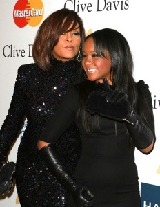 Whitney and Bobbi Kristina at the 2011 pre grammy gala arrivals