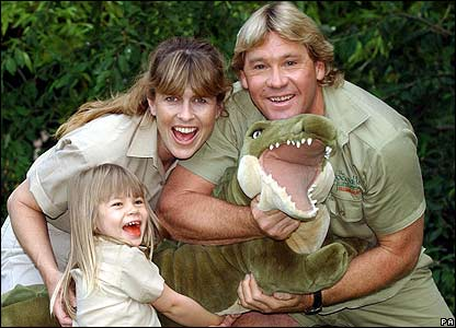 The late Steve Irwin and family