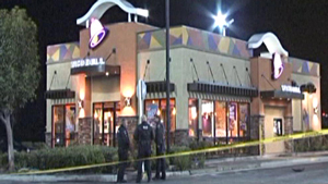Scene of the Taco Bell drive thru killing