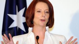 Aussie Prime Minister Julia Gillard comes out against 'planking'...