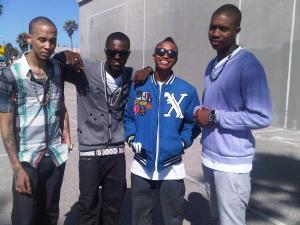 Cali Swag District member M-Bone (Far Left) shot to death in Inglewood, Ca. over a girl by a hater...