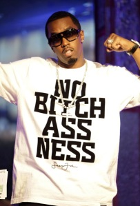 Diddy in a No Snitch t-shirt
