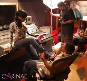 Lashawna on the set