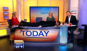 Perth Morning show planking
