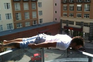 Planking from a high balcony could lead to sudden death, like what happened to Acton Beale...