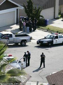 Scene of San Diego Family murder/suicide
