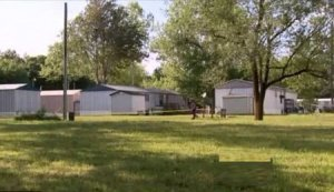 Trailer park where the Gore's tortured their own children